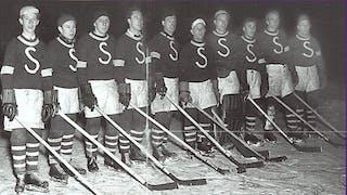 Bildet viser norgesmesterne i ishockey fra 1948