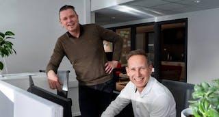 Geir Berntsen og Stig Andresen jobber med salg og markedsføring i Smart Energi