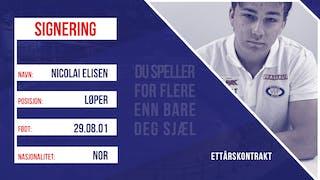 Nicolai Eliesen signerer