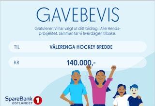 Gavebevis til Vålerenga bredde 140 000 kroner fra SpareBank! Østlandet